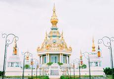 Il tempio splendido a Khon Kaen, Tailandia Immagine Stock