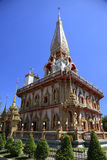 Il tempio Wat Chalong, Phuket, Tailandia immagine stock