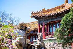 Tempio Yunhegun del Lamaist Fotografia Stock Libera da Diritti