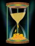 Il tempo è denaro. clessidre. Immagini Stock Libere da Diritti