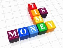 Il tempo è denaro colore illustrazione di stock