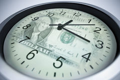 Il tempo è denaro concetto fotografie stock