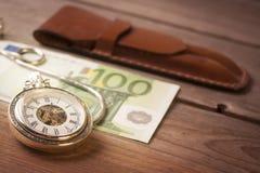 Il tempo è denaro concetto Immagine Stock