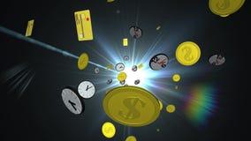Il tempo è denaro concetto stock footage