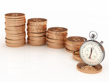 Il tempo è denaro. Concetto del commercio Fotografia Stock Libera da Diritti