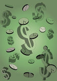 Il tempo è denaro concetto - illustrazione Fotografia Stock Libera da Diritti