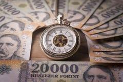 Il tempo è denaro metaphore Fotografie Stock Libere da Diritti
