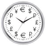 Il tempo è denaro orologio Fotografia Stock Libera da Diritti
