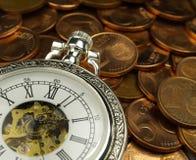 Il tempo è denaro rame fotografia stock libera da diritti