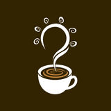 Il tempo del caffè ottiene la buona idea, progettazione di vettore illustrazione di stock