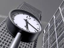 Il tempo è denaro in Canary Wharf Fotografia Stock