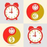 Il tempo è denaro, concetto di affari Vettore Fotografie Stock Libere da Diritti