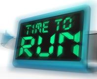Il tempo di eseguire i mezzi dell'orologio di Digital sotto pressione e deve andare illustrazione di stock