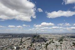 Il tempo di giorno della torre Eiffel Immagine Stock
