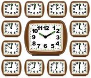 Il tempo di orologio dell'insieme Fotografia Stock