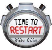 Il tempo di ricominciare il temporizzatore del cronometro rifa rinfresca reinventa illustrazione di stock