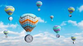 Il tempo pilota il concetto 3D rende illustrazione di stock