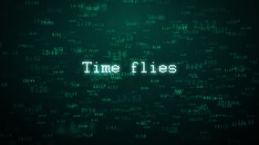 Il tempo pilota la tipografia Aumento casuale delle particelle del fondo di Internet di tempo Fotografie Stock Libere da Diritti