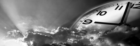 Il tempo vola Immagini Stock