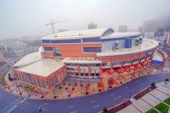 Il tempo Warner Cable Arena a Charlotte del centro, Carolin del nord fotografia stock libera da diritti