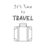 Il temps de s de voyager Illustration de vecteur Image libre de droits