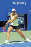 Il tennis professionista Angelique Kerber dalla Germania pratica per l'US Open 2014 a Billie Jean King National Tennis Center Immagine Stock Libera da Diritti