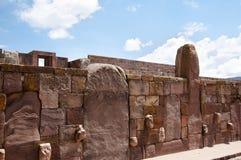 Il tenone dirige - Tiwanaku - la Bolivia Fotografie Stock Libere da Diritti