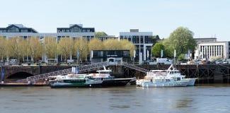 Il terminale di traghetto dove la partenza del roquio fotografia stock
