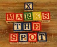 Il termine X segna il punto Fotografia Stock Libera da Diritti