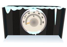 Il termometro congelato Fotografia Stock Libera da Diritti