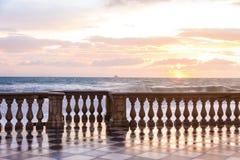 Il Terrazza Mascagni è un belvedere in Livorno, Italia immagine stock