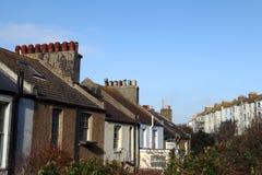 Il terrazzo alloggia le case Inghilterra Hastings Fotografia Stock