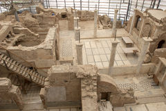 Il terrazzo di Ephesus alloggia il famoso, A d 1 Fotografia Stock Libera da Diritti