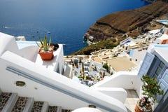 Il terrazzo di vista del mare all'albergo di lusso Fotografie Stock