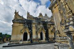 Il terrazzo superiore Maha Aungmye Bonzan Monastery Inwa Regione di Mandalay myanmar immagini stock libere da diritti