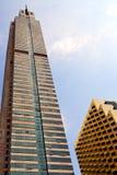 il terrazzo Tailandia di Bangkok nei palazzi del distretto di ufficio ingiallisce Immagine Stock