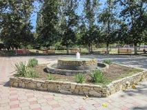 Il territorio del sanatorio Vita vicino alla città russa di Anapa nella regione di Krasnodar Fotografia Stock