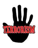 Il terrorismo di Handprint Immagini Stock