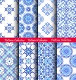 Il tessuto blu modella gli ambiti di provenienza Fotografia Stock