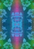 Il tessuto con un modello dei fiori con progenote infila Fotografie Stock