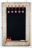 Il tessuto di legno della struttura della lavagna della lavagna Stars i piccoli bambini né Immagine Stock Libera da Diritti