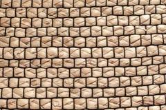 Il tessuto di struttura di paglia, tappeto immagini stock