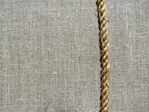 Tessuto e corda di tela Fotografia Stock