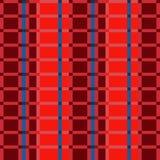 Il tessuto retro S.U.A. colora il modo beige di stile e rosso blu senza cuciture Immagini Stock