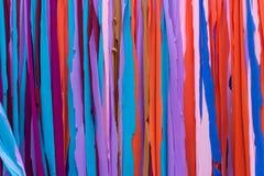 Il tessuto spoglia la stamina con viola, blu, rosso, Brown, rosa, orango fotografia stock libera da diritti