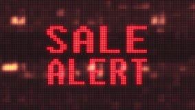 Il testo attento infiammante di parola di vendita sull'affissione a cristalli liquidi dell'elaboratore digitale di impulso errato royalty illustrazione gratis