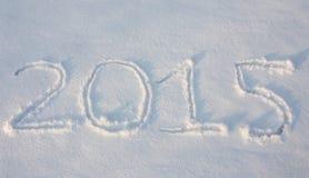 Il testo attinge la neve Fotografia Stock Libera da Diritti
