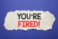 Il testo di annuncio della scrittura che vi mostra è infornato Concetto di affari per i disoccupati o scarico scritto su carta pe Immagine Stock Libera da Diritti