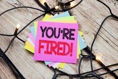 Il testo di annuncio della scrittura che vi mostra è infornato Concetto di affari per i disoccupati o scarico scritto sulla nota  Immagine Stock Libera da Diritti