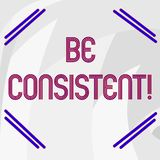 Il testo di scrittura di parola ? coerente Concetto di affari per sempre il comportamento o l'avvenimento in un estratto positivo illustrazione di stock